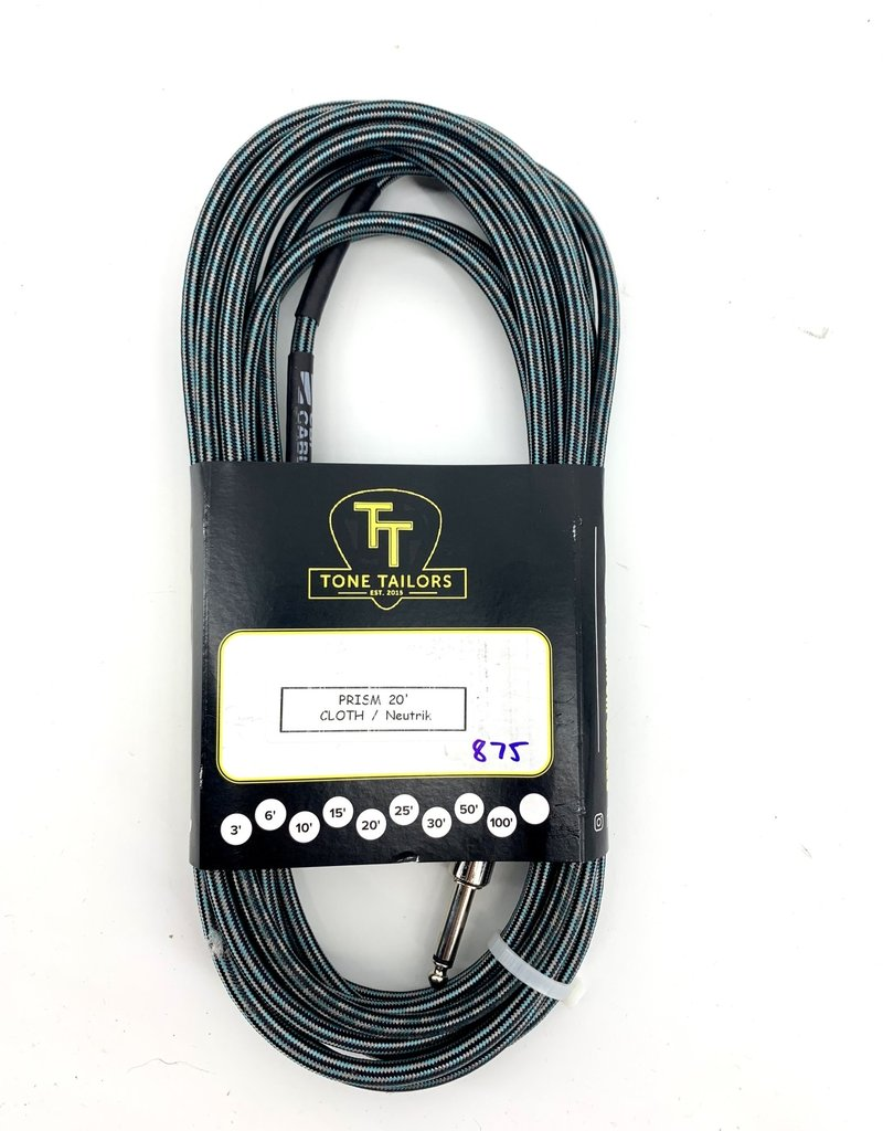 Tone Tailors Prism Cloth Instrument Cable 15ft 875