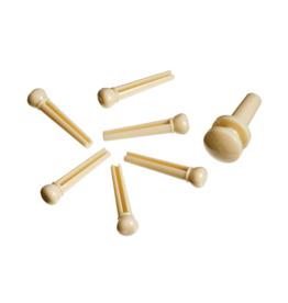 D'Addario D'Addario PLASTIC BRIDGE PINS Ivory