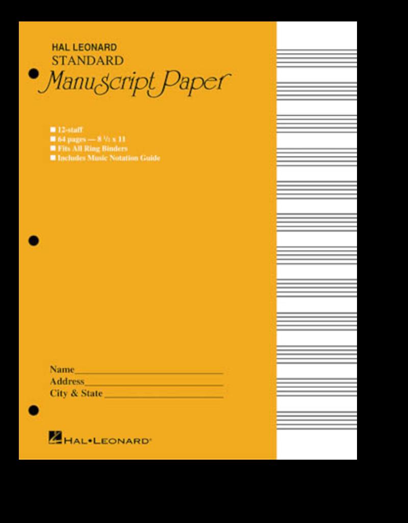 Hal Leonard Standard Manuscript Paper