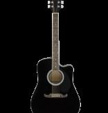 Fender Fender FA-125CE Dreadnought, Walnut Fingerboard, Black