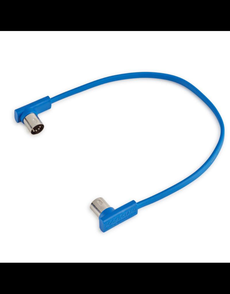 RockBoard RockBoard Flat MIDI Cable - Blue, 30 cm