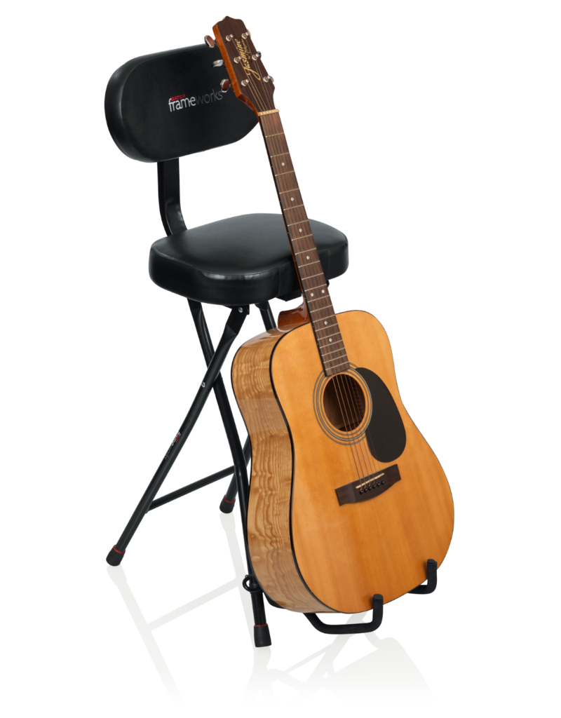 Gator Gator Frameworks Combination Guitar Performance Seat and Single Guitar Stand