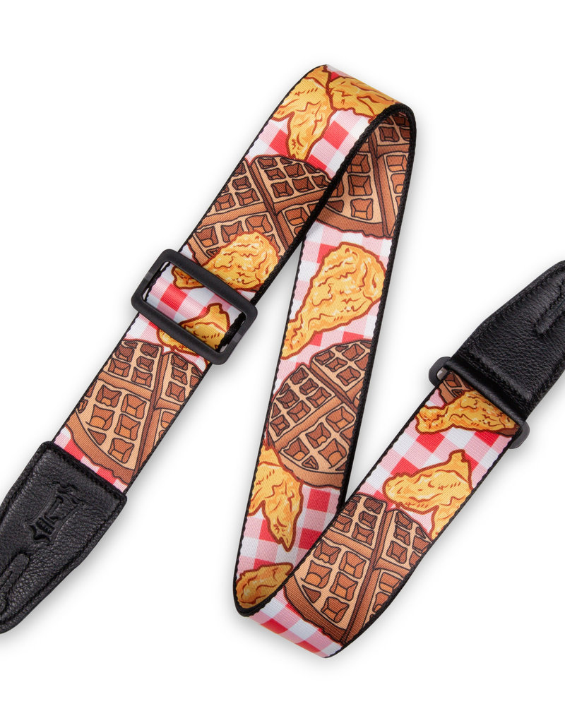 Levy's Leathers Levy's Polyester Guitar Strap Chicken and Waffles – MPD2-118