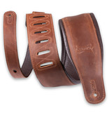 Levy's Leathers Levy's 3.25″ Wide Butter Leather Guitar Strap – PM32BH-BRN