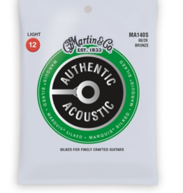 Martin Martin MA140S Marquis 80/20 Bronze Light Authentic Acoustic Silked Guitar Strings