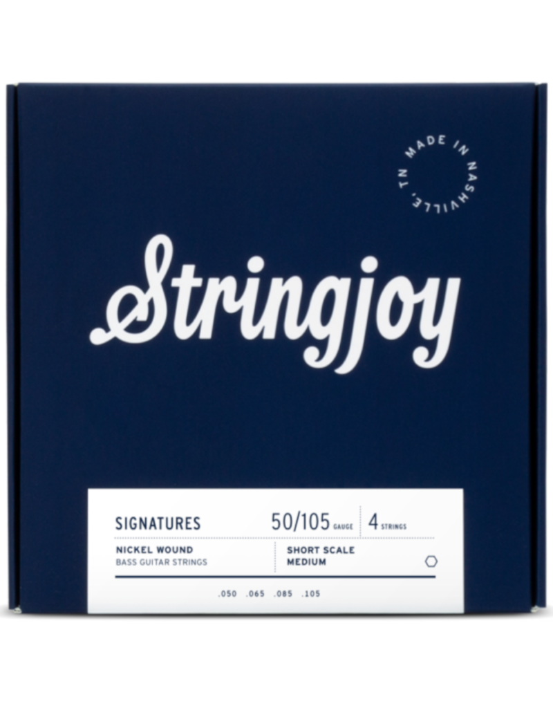 Stringjoy Stringjoy Custom 4 String Short Scale Nickel Wound Bass Guitar Strings