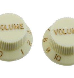 Allparts Allparts PK-0154 SET OF 2 PLASTIC VOLUME KNOBS FOR STRATOCASTER, Mint Green