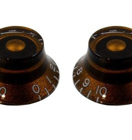 Allparts Allparts PK-0140-036 SET OF 2 VINTAGE-STYLE BELL KNOBS, Brown