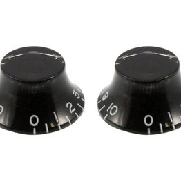 Allparts Allparts PK-0140-023 SET OF 2 VINTAGE-STYLE BELL KNOBS, Black