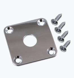 Allparts Allparts AP-0633 SQUARE JACKPLATE FOR LES PAUL® Nickel