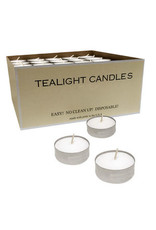 Tealight Candles in Metal Cups - full box (125)