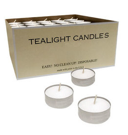 Tealight Candles in Metal Cups (125/box)