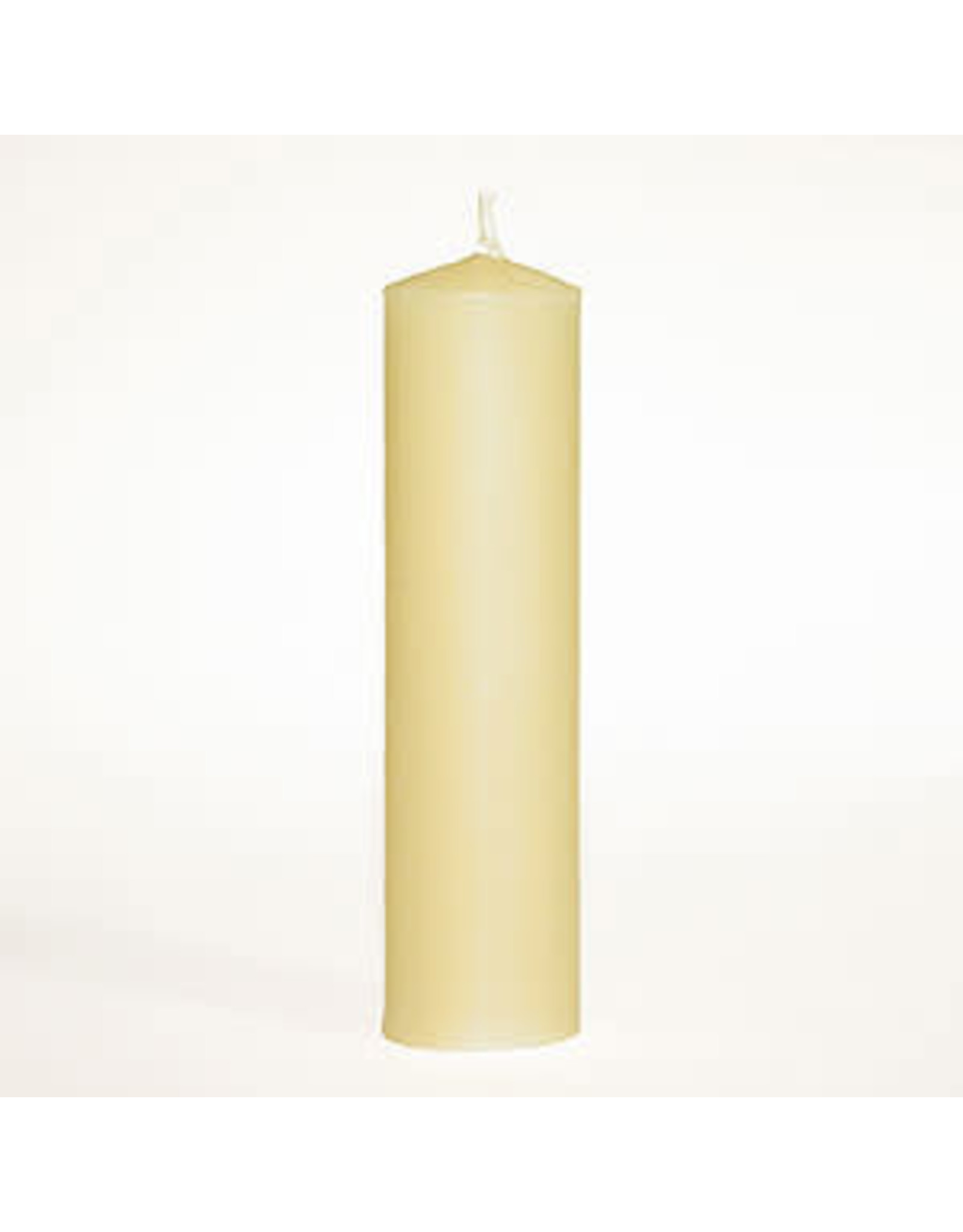 "100% Beeswax 1-1/2"" x 5-5/8"" Plain End Candle Stick"