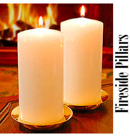 "2.8"" x 5.8"" Fireside Pillar Candles"