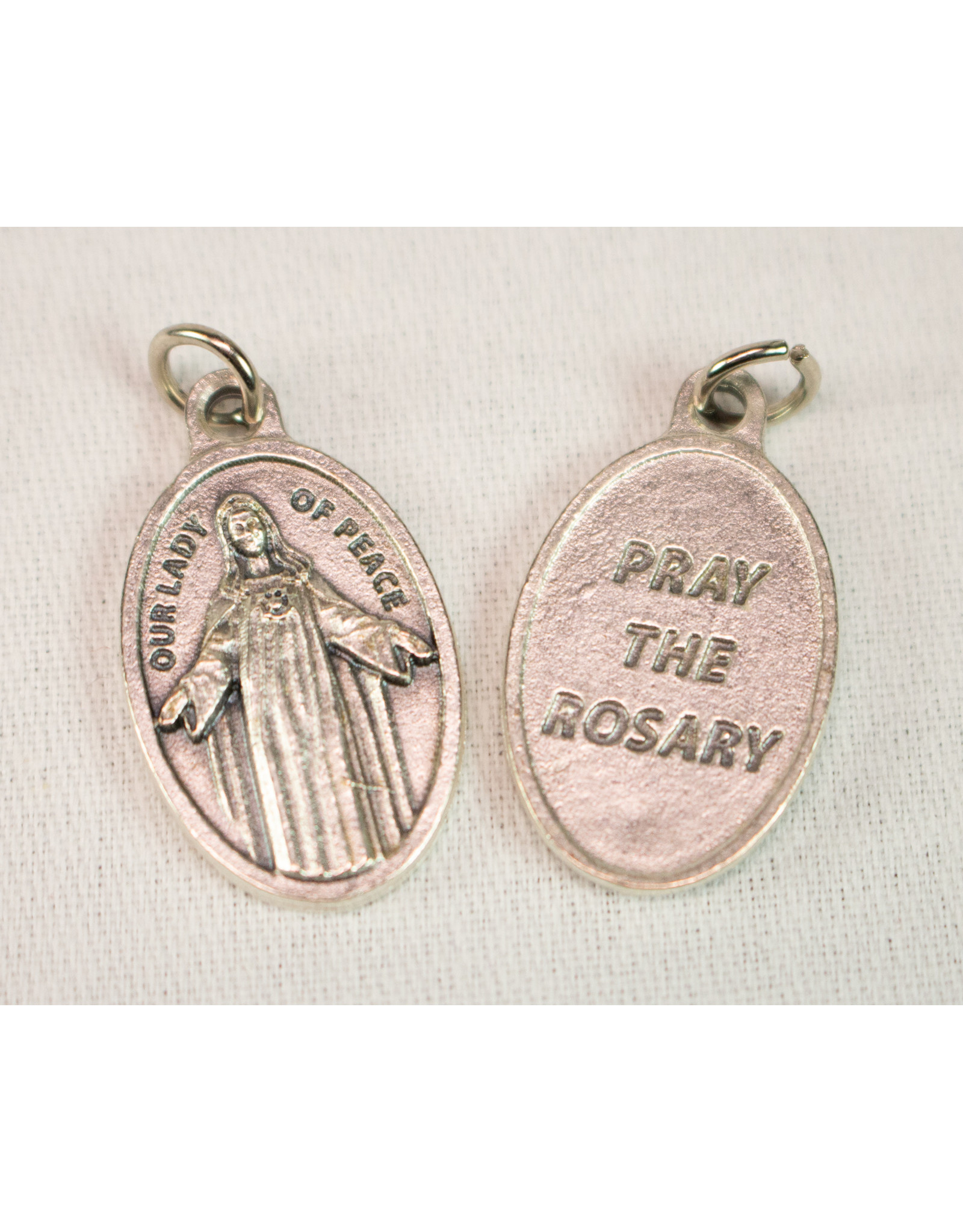 Our Lady of Peace Custom  Oxidized Medal