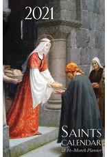 2021 Saints Calendar & 16 Month Daily Planner Spiral Bound
