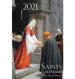 2021 Saints Calendar & 16 Month Daily Planner Spiral Bound
