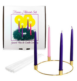 Advent Taper Candle Ring Set