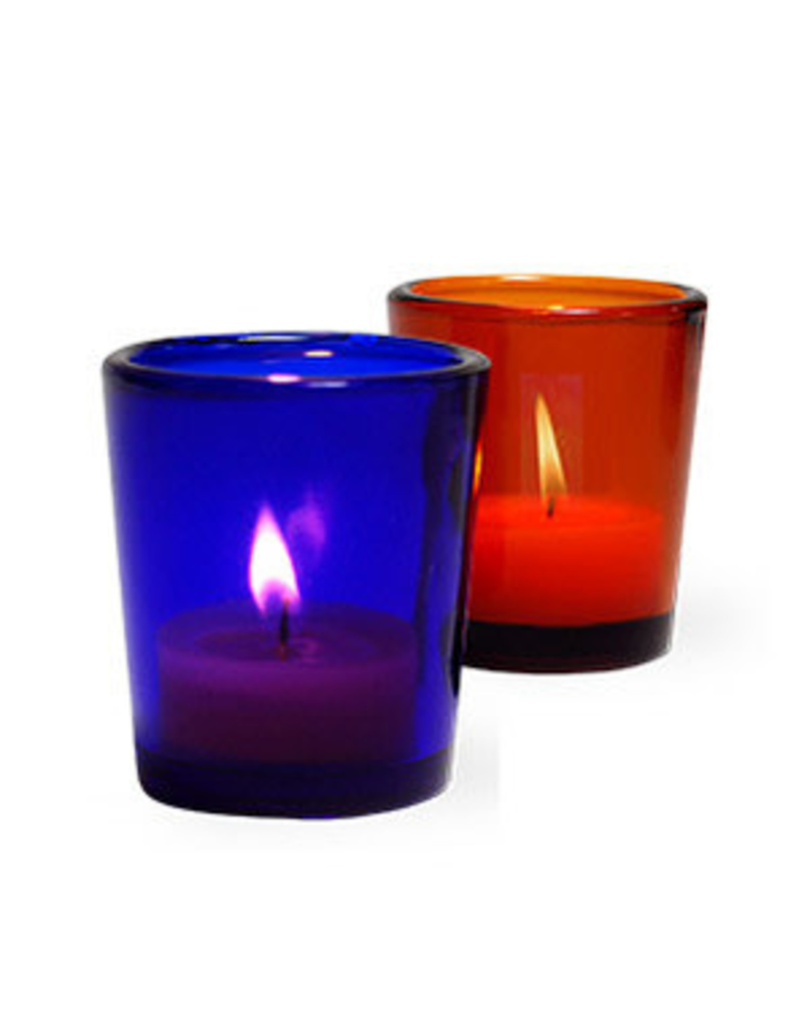 Amber Glass Votive Candle Holder