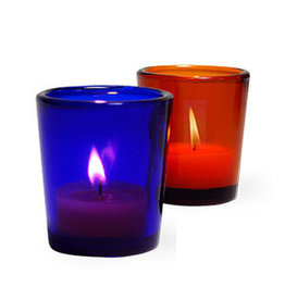 Amber colored Glass Votive Candle Holder