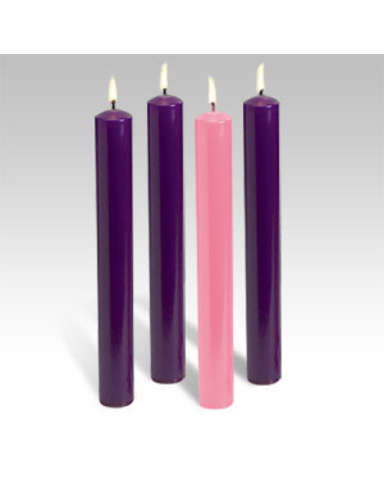 Advent Tapers 51% Beeswax (3 purple, 1 pink)