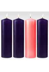 "Advent Pillar Candle Set 3"" x 9"""