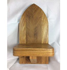 Gothic Display Shelf, 5x10, Elm finished w/ Danish Oil