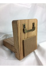 Small Display Shelf, 3.5x4.5, Ash finished w/Early American/Acrylic