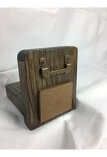 Small Display Shelf, 3.5x4.5, Ash finished w/Jacobean/Acrylic