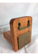 Small Display Shelf, 3.5x4.5, Elm finished w/Gunstock/Acrylic