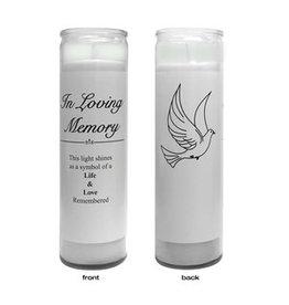 Memorial Candle - Dove