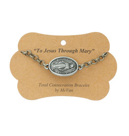 Total Consecration to Mary chain bracelet with Miraculous Medal