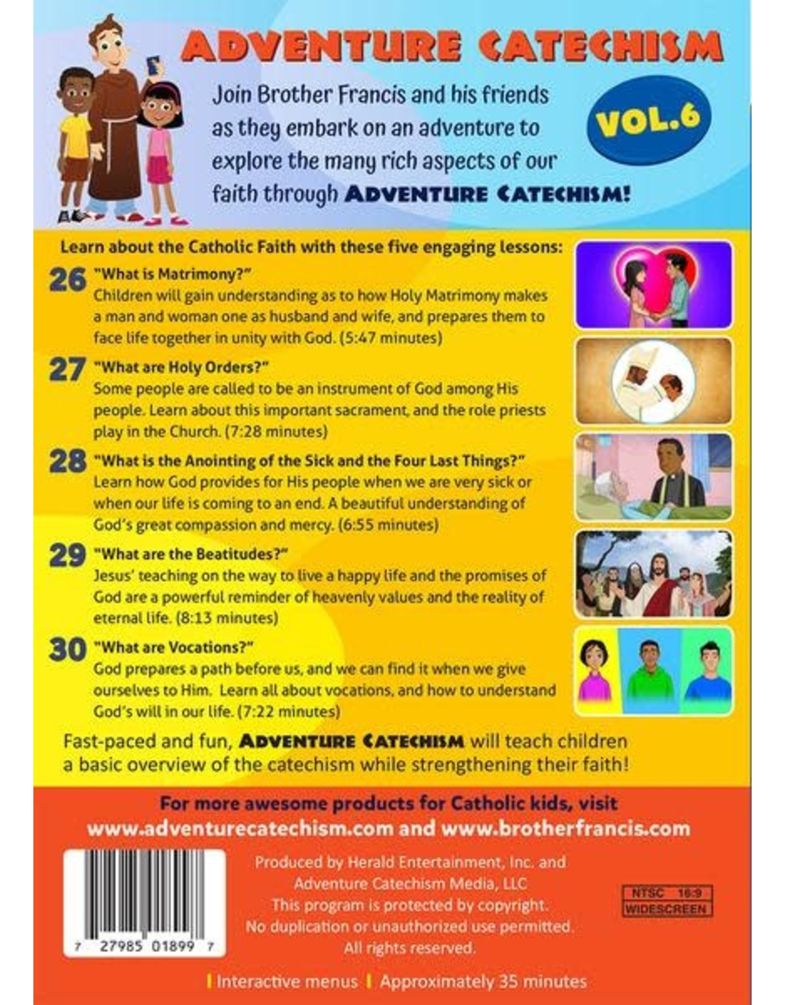 Brother Francis Adventure Catechism Volume 6 - DVD