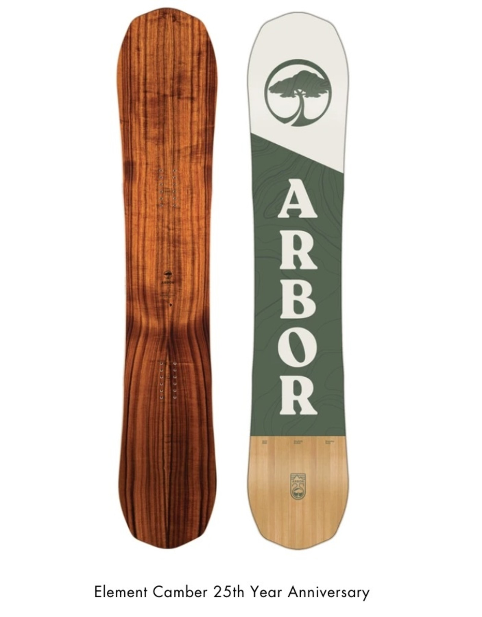 Arbor Snowboards Element 25th Koa Camber 156