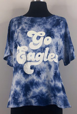 Chicka-D Cropped Slouchy Tee Tie-Dye