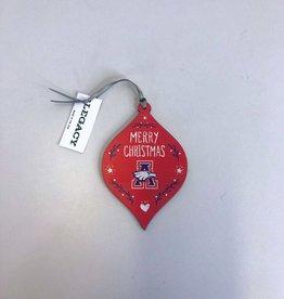 L2 Brands Merry Christmas Ornament