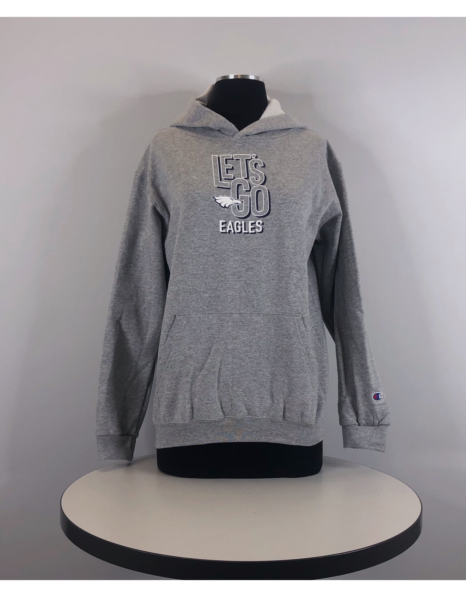 Champion Youth Lets Go Hoodie Grey