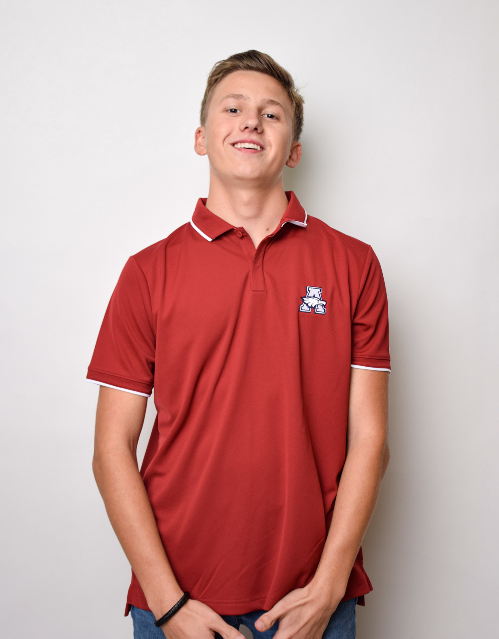Nike UV Collegiate polo -crimson (large)