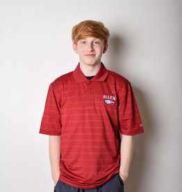 Champion Textured Solid Polo Cardinal