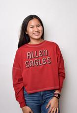 L2 Brands Cropped Big Shirt (Crimson)