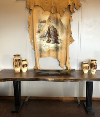 Co-ALBC 7ft Walnut Slab Dining Table