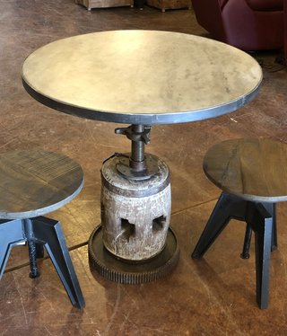 HTD Old Mill Adj Dining Table-30x28-36H