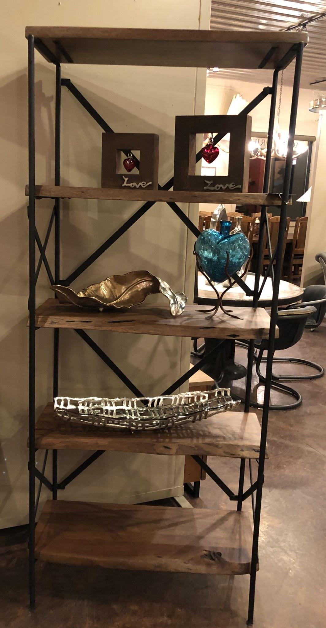 HTD Organic Forge Bookshelf, 34x16x78