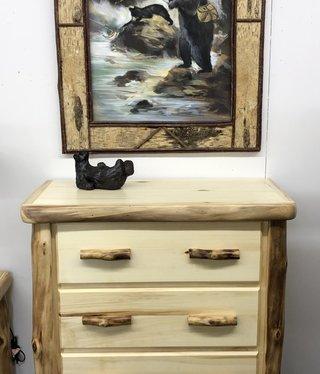 Rustic log Plain 4 Drawer Chest