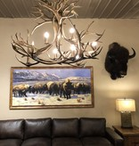 Fish Brass Caribou Chandelier