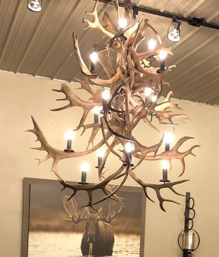 Fish Caribou Chandelier 16 Lights