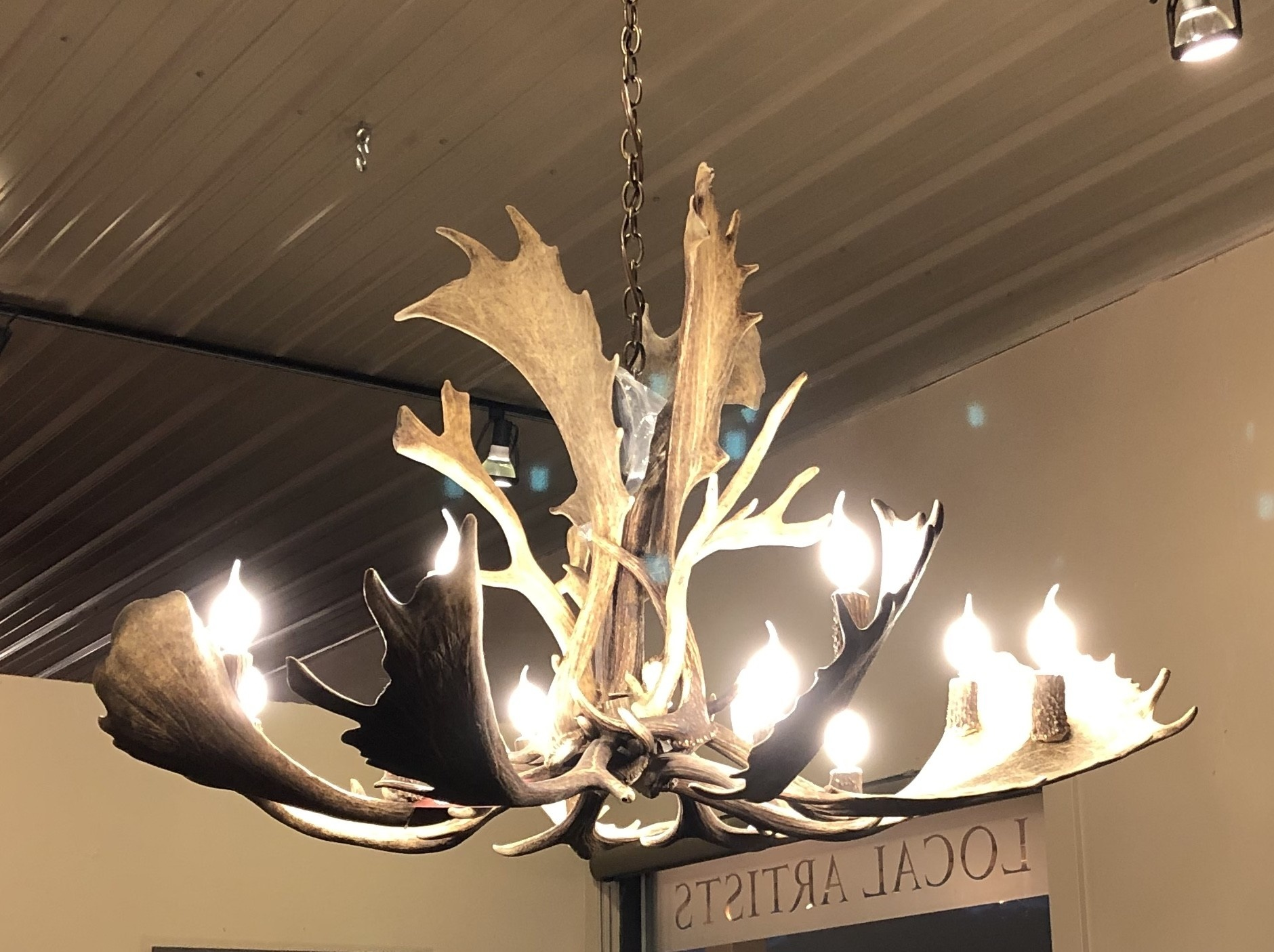 Fish Fallow Deer Chandelier 12 Lights