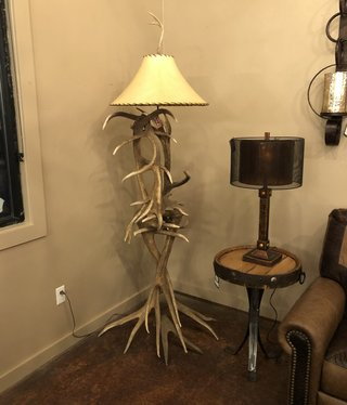 Fish Elk/Red Deer Floor Lamp
