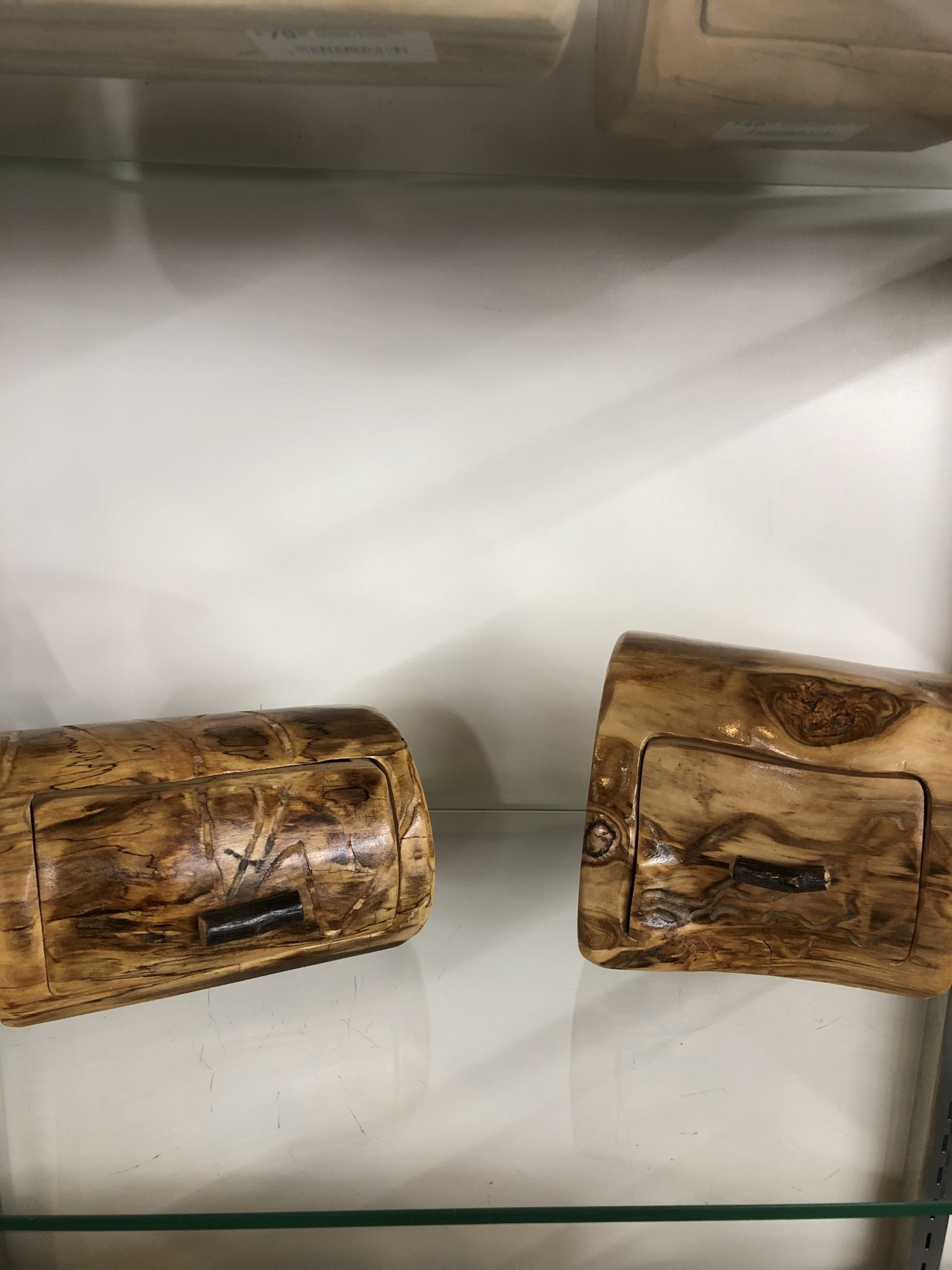 Rustic log 1 Drawer Jewelry Box W/ Hidden drawer