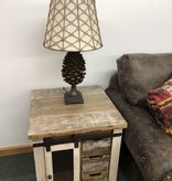 IFD 9661- Antique Multi End Table 23x23x26